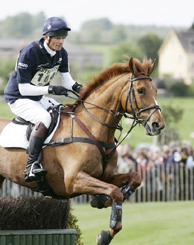 William Fox-Pitt takes a fence in his stride